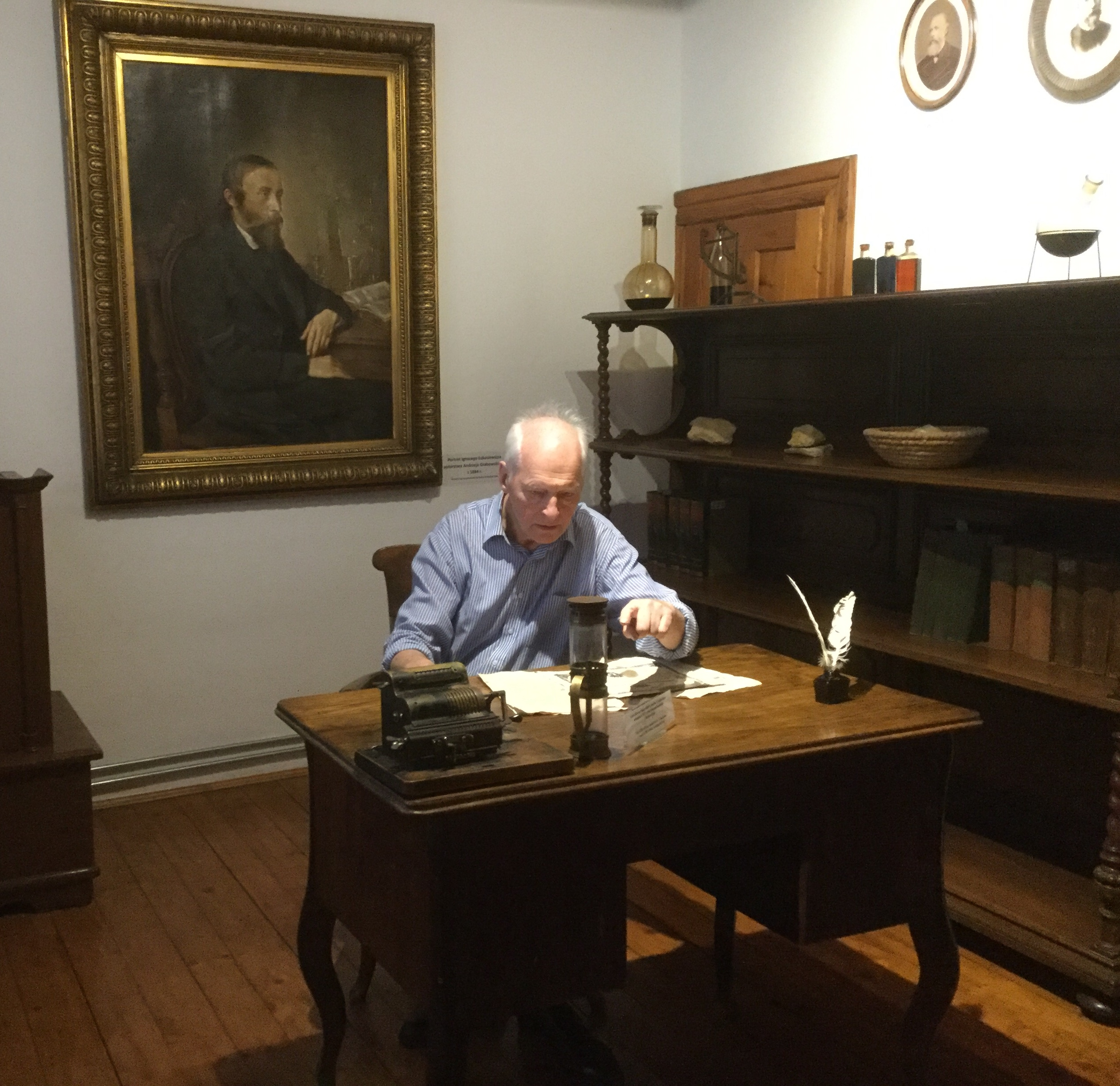 Andrew at a desk