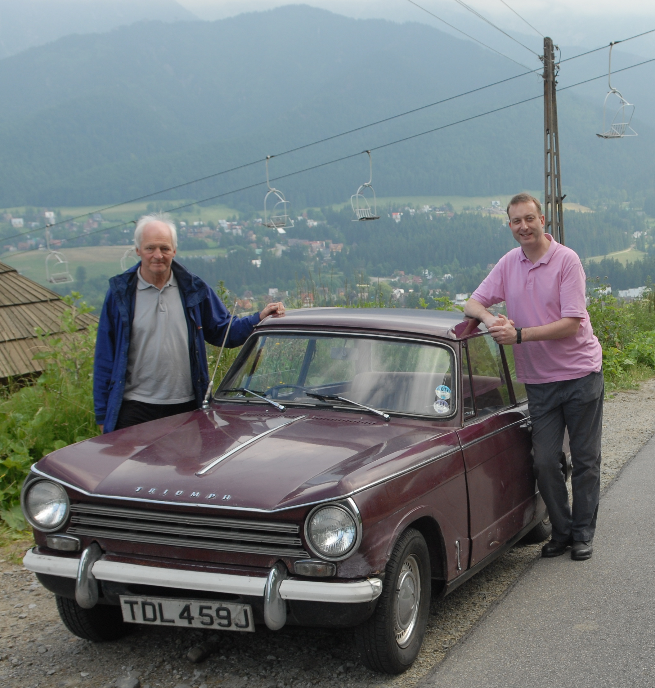 Andrew with a Triumph Herald car